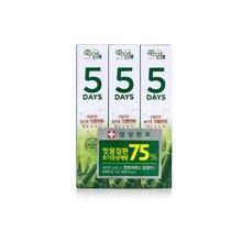 韩国LG生活健康 竹盐5days即可牙龈护理牙膏套装清爽薄荷精华(100g*3支)