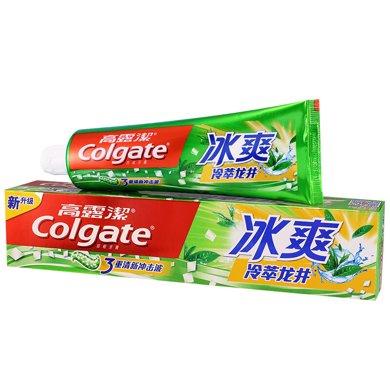 $高露潔冰爽牙膏(天然茶香型)(180g)(180g)(180g)
