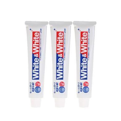 【3支】日本LION獅王White&White美白牙膏 靚白薄荷快速美白牙齒150g/支