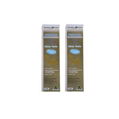 2支*澳洲Healthy Care蜂膠牙膏幫助舒緩口氣120g【海外直郵】