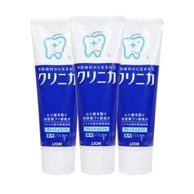 【3支】日本獅王(LION )酵素深層美白防蛀薄荷牙膏 薄荷香型 (超強薄荷) 130g