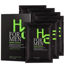 赫恩(H&E)男士控油祛痘吸附净爽面膜 6片(补水保湿 清爽控油 收缩毛孔 面膜贴)