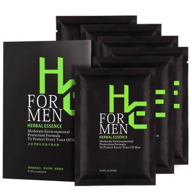 赫恩(H&E)男士控油祛痘吸附凈爽面膜 6片(補水保濕 清爽控油 收縮毛孔 面膜貼)