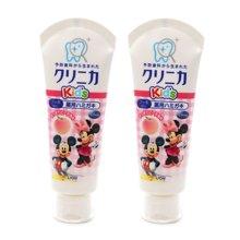 【2支装】【日本】狮王Lion儿童牙膏龋齿酵素清洁牙膏60g 水蜜桃味