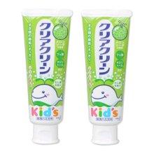 【2支装】【日本】KAO花王 幼儿无氟可吞咽哈密瓜味牙膏 70g/支