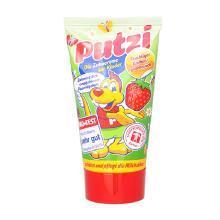 【支持购物卡】德国putzi普奇儿童牙膏 宝宝可吞咽牙膏 50ml/支 草莓味