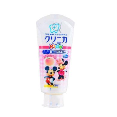 日本獅王Lion兒童牙膏齲齒酵素清潔牙膏60g 水蜜桃味