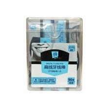 菲尔芙扁线牙线棒盒装(独立包)CK(50支)