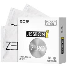 杰士邦避孕套安全套 zero零感极薄超薄超滑成人情趣用品 3片