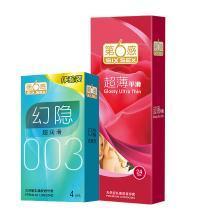 第六感 安全套 超薄超滑避孕套 延時潤滑情趣 夫妻性愛 成人用品 第6感 超薄平滑24+4只裝