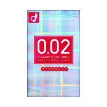 【支持购物卡】日本Okamoto冈本002红色前端加大安全套 6只装
