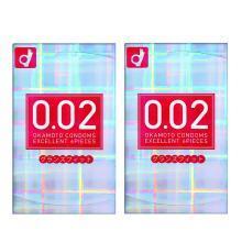 【2盒】日本Okamoto冈本002红色前端加大安全套 6只装/盒