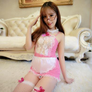 俏皮天使 情趣內衣女傭制服誘惑性感女士角色扮演 露背粉色女仆裝