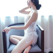 柠檬物语 情趣内衣服女士睡衣三件套装小胸三点露乳开档透视装