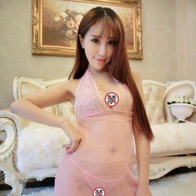 碧雅 情趣内衣女士性感睡裙制服诱惑角色扮演 粉色吊带露背睡裙