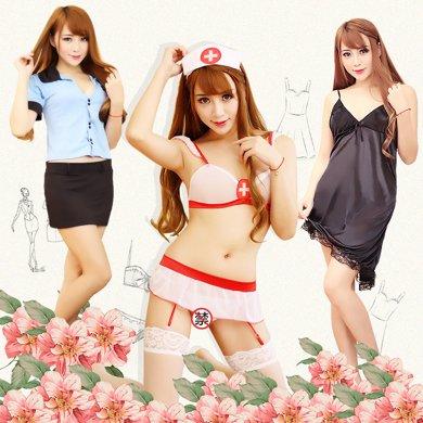 情趣內衣 女士性感制服誘惑套裝 護士三點式女仆制服裝 sm女傭角色扮演