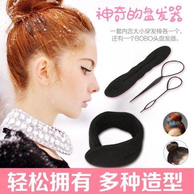 盤發器 盤發棒 丸子頭韓國飾品發飾 頭飾發夾