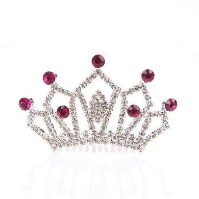 姣蘭兒童水晶皇冠可愛發飾發夾