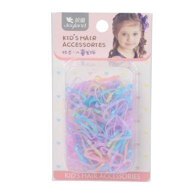 姣兰 儿童橡皮筋 彩色发绳 发饰扎头发圈 小辫子头饰 300条装