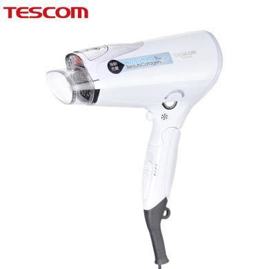 TESCOM美發膠原蛋白吹風機水負離子家用不傷發網紅款日本電吹風筒TCD4200