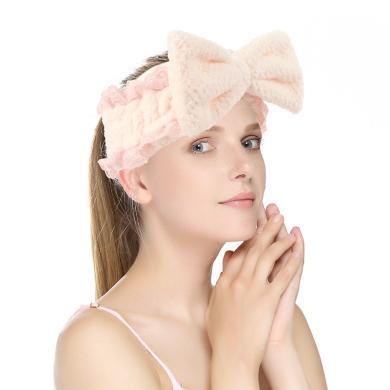 Joy Land/姣蘭網紅款柔軟蕾絲大蝴蝶結束發帶 化妝卸妝結頭帶