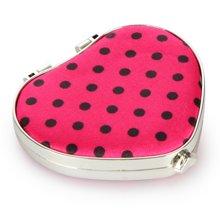 姣兰 粉红色可爱?#30007;?#22278;点小镜子化妆镜 美妆镜 圆镜 随身镜