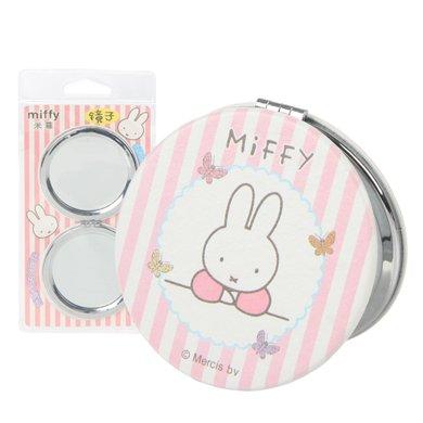 米菲隨身化妝鏡折疊雙面高清鏡子放大鏡皮質
