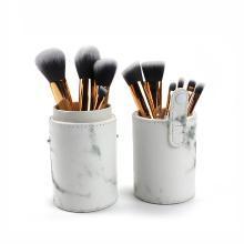 Focallure10支化妆刷套装大理石纹初学者全套美妆工具腮红刷 粉底刷 散粉刷S017