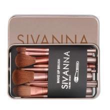 【支持购物卡?#21051;?#22269;Sivanna思薇娜 化妆刷套装美妆工具12件套(金色)