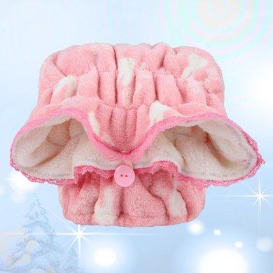 米菲吸水干發帽珊瑚絨印花粉色米菲可愛長絨干發帽