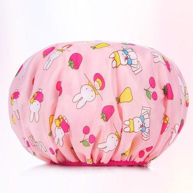米菲 可愛印花防水浴帽焗油浴帽干發帽新款防水浴帽
