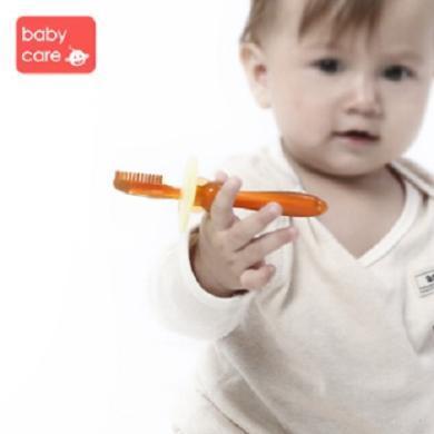 babycare婴儿牙刷1-3岁 纳米银硅胶宝宝乳牙刷 抑菌婴儿乳牙刷 软头宝宝训练牙刷Y303