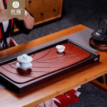 祥福茶具 竹制茶盘功夫茶具竹茶台 日式家用简约大长方形竹子托盘
