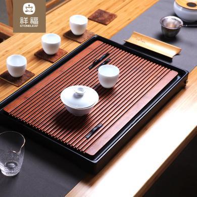 祥福 耕云重竹茶盤