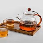 祥福 耐热玻璃煮茶壶花草茶白茶泡茶壶