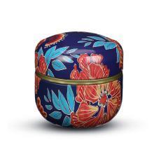 爱屋格林圆形带盖茶叶罐密封罐储物罐创意家用食品防潮便携铁罐子