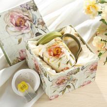 爱屋格林陶瓷内胆小茶杯带盖带把茶水分离日式办公室家用杯子送礼
