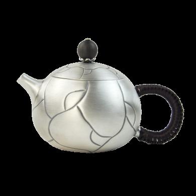 AlfunBel艾芳貝兒 S990銀壺銀茶壺西施壺 純手工功夫茶具 小泡茶壺銀煮茶壺-冰裂紋C-AG-1-14