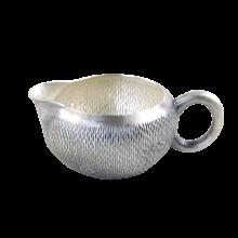 AlfunBel艾芳贝儿纯手工錾刻银公道杯 大口径银茶海银公杯990 银茶具配件银壶-清新水草纹C-AG-98-18