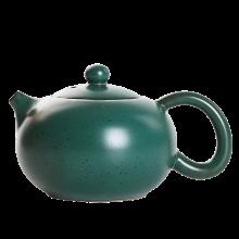 AlfunBel艾芳贝儿日式粗陶茶壶 仿古陶瓷泡茶壶陶壶 功夫茶具单壶西施壶-墨绿陶釉C-1-15