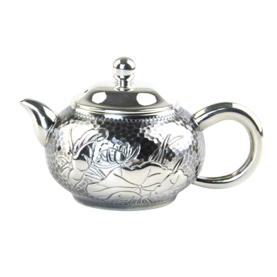 AlfunBel艾芳貝兒 S990銀壺銀茶壺 純手工功夫茶具 小泡茶壺銀煮茶壺-碧連天C-AG-1-9