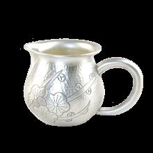 手工錾刻银公道杯 银茶海银公杯990 银茶具配件银壶-梅花朵朵C-AG-98-6