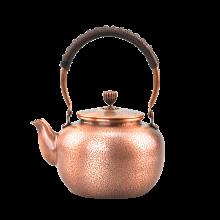 手工纯铜壶 仿古铜茶壶 大号烧水壶加厚紫铜壶煮茶壶-虎皮纹C-76-1-9
