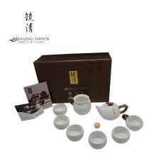 陆宝镜清劲雅茶组9件式青瓷冰裂