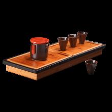 祥福 旅行茶具便携式一壶四杯 升级款茶职套组