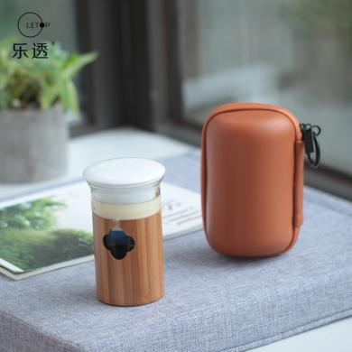 【新品】祥福山海系列 旅行功夫茶具套裝一壺三杯隨身車載快客杯