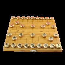 AlfunBel艾芳贝儿 黄铜象棋全实心中国象棋创意礼品收藏摆件棋盘棋盒一体X-9-98-22