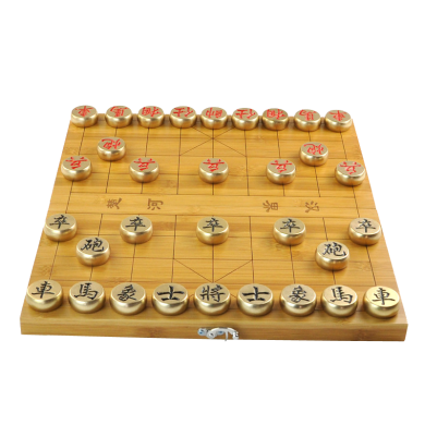 AlfunBel艾芳貝兒 黃銅象棋全實心中國象棋創意禮品收藏擺件棋盤棋盒一體X-9-98-22