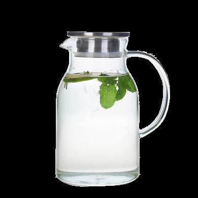 AlfunBel艾芳貝兒茶具 高硼硅耐熱玻璃鴨嘴不銹鋼茶濾泡茶壺涼水壺歐尚壺超大容量2000MLC-85-19-2