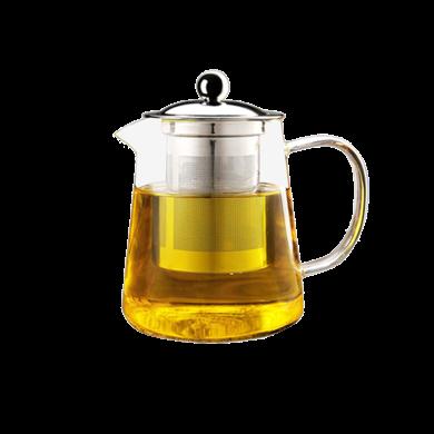 AlfunBel 艾芳貝兒 茶具- 高硼硅耐熱玻璃鴨嘴不銹鋼茶濾泡茶壺(超大容量950ML家庭裝,可電陶爐直接加熱)C-85-1